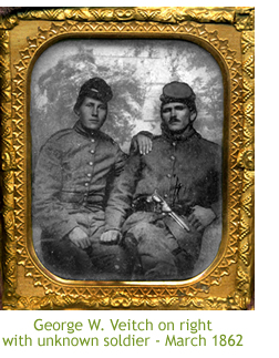 George W. Veitch on right with unknown soldier - March 1862
